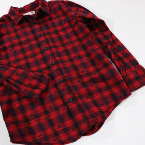 Aeropostale Shirts & Tops - Red Black Plaid Boys Button Up Dress Shirt 12 Aero